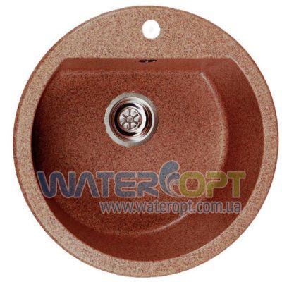Мойка из искусственного камня Galati 50*50*19 цвет терракот мрамор (701)