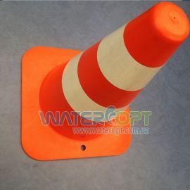 Конус дорожный две отражающие полосы, столбик сигнальный