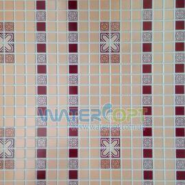 Листовые панели Мозаика Орнамент бордовый