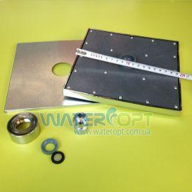 Лейка потолочная квадратная Н92 200 мм Латунь