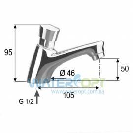 Нажимной кран для раковины Remer Tempor TE15