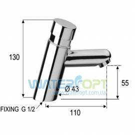Нажимной кран для раковины Remer Tempor TE18