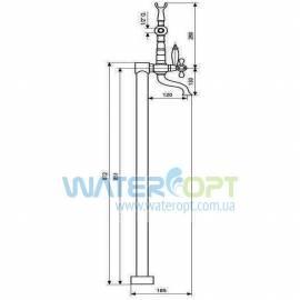 Напольный смеситель для ванны Emmevi Deco Classic CR1201128