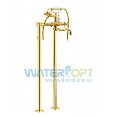 Напольный смеситель для ванны золото Emmevi Deco Classic OR1201128