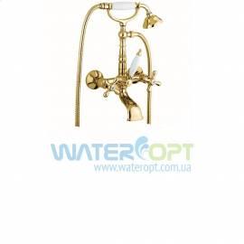 Смеситель для ванны золотого цвета Emmevi Deco Old OR12611