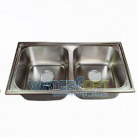 Мойка для кухни Haiba 78*43 Double Хром