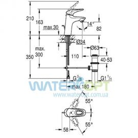Смеситель для раковины Grohe Eurostyle DN 15 S-Size 33558003