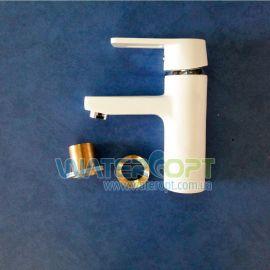 Смеситель для раковины белый Zerix Z1030-7