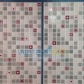 Листовые панели Мозаика Геометрия бордовая