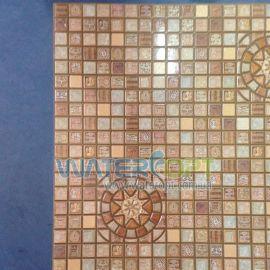 Листовые панели Медальон коричневый