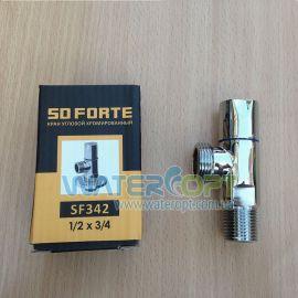 Кран для стиральной машины SD Forte SF342 1/2 * 3/4