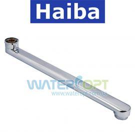 Гусак для смесителя Haiba  плоский прямой 350 мм