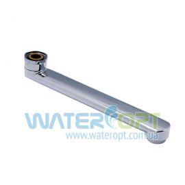 Гусак для ванны  плоский  прямой  200 мм