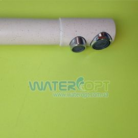 Смеситель для кухни с фильтром бежевый мрамор Potato P4098-9