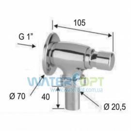Нажимной кран для унитаза  Remer Tempor TE17010