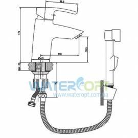 Смеситель для раковины с гигиеническим душем Imprese Horak 05170BT