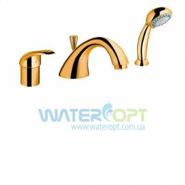 Смеситель на борт ванны золотого цвета  Emmevi Luxor OR70120R