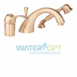 Смеситель на борт ванны бронзового цвета  Emmevi Tiffany BR60120