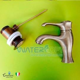 Смеситель для раковины бронза EMMEVI TIFFANY BR6003