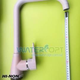 Смеситель для кухни кремовый мрамор Hi-Non h064