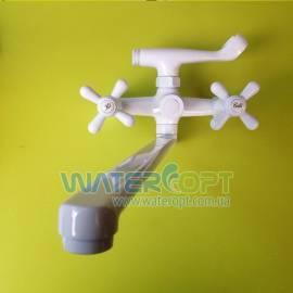 Смеситель для ванны белый Milano Dominox 140 evro