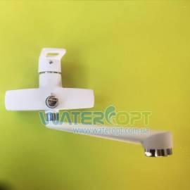 Смеситель для ванны белый Zerix Z2230-7