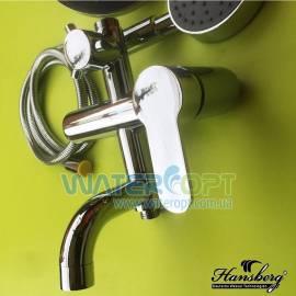 Смеситель для ванны с тропическим душем Hansberg Harmoni