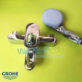 Смеситель для ванны с душевой стойкой Grohe  BauLoop