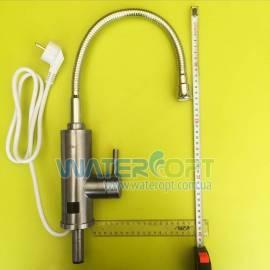 Проточный водонагреватель  из нержавеющей стали с гибким гусаком и датчиком тепла Zerix ELW-04-EF