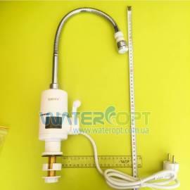 Проточный водонагреватель с  индикатором температуры Zerix ELW-06-EF гибкий гусак