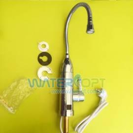 Проточный водонагреватель с индикатором температуры Zerix ELW-03-EF гибкий гусак