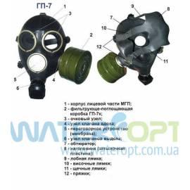 Противогаз ГП-7 противоаэрозольный (пылевой)
