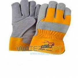 Замшевые рабочие перчатки усиленные кожей