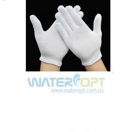 Перчатки официанта белая х/б