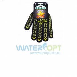 Перчатки рабочие Doloni х/б с декоративным ПВХ-покрытием