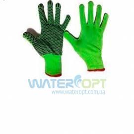 Защитные перчатки синтетические с точкой