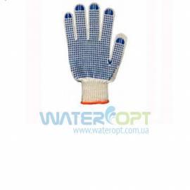 Защитные перчатки из толстого трикотажа с односторонним точечным покрытием