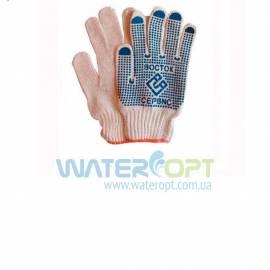Защитные перчатки ВОСТОК Х/Б с ПВХ точкой