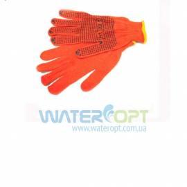 Защитные перчатки рабочие с ПВХ точкой Х/Б 2 сорт
