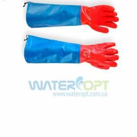 Защитные перчатки МБС красные с нарукавником