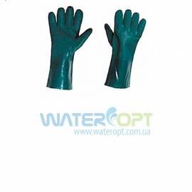 Защитные перчатки КЩC зелёные 27см