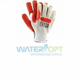 Трикотажные защитные перчатки с резиновым покрытием Стекольщик REXG