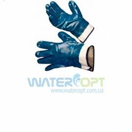Защитные перчатки нитроловые МБС синие