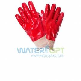 Защитные перчатки красные маслостойкие Красная МБС