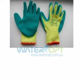 Защитные перчатки Пена Х/Б зеленые