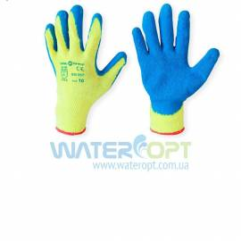 Защитные перчатки Пена Х/Б синие
