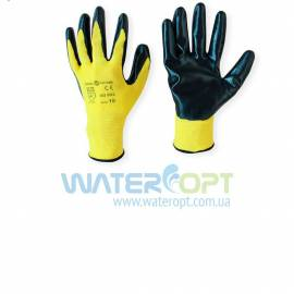Защитные перчатки стрейч нитриловые желтые