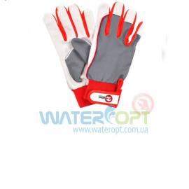 Защитные перчатки кожаные на липучке