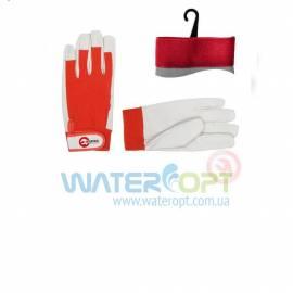 Защитные перчатки кожаные комбинированные с липучкой