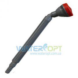Распылитель душ угловой с удлинителем 200 мм серый
